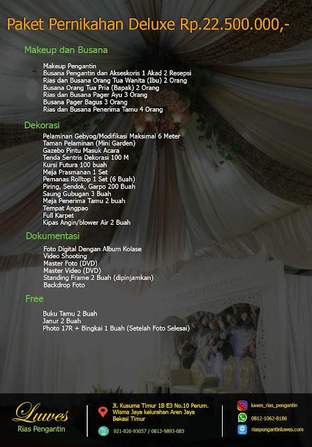 Paket pernikahan untuk wilayah Bekasi, Tambun, Jakarta