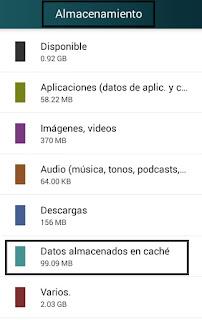 como eliminar los datos cache en android