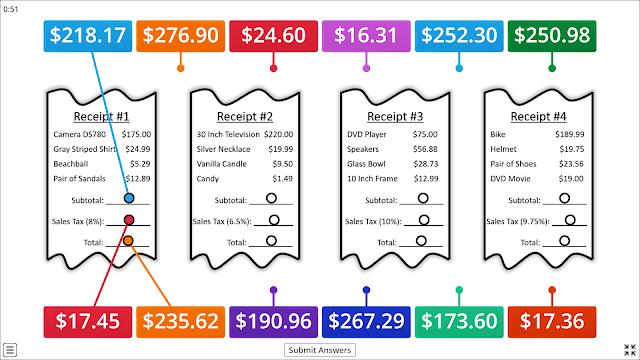Sales Tax Online Game