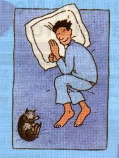 Tidur Miring Memeluk bantal