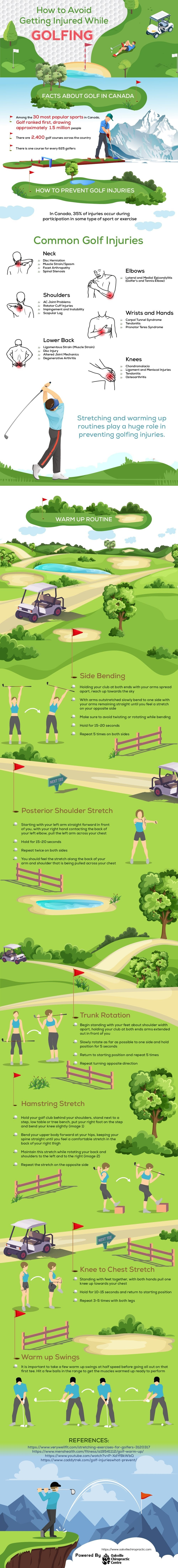 How To Avoid Getting Injured While Golfing #infographic