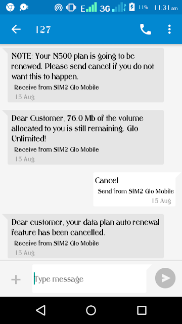 How to stop auto-renewal on glo