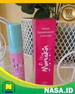 Moreskin Magic Transparan LipGloss Warna Pink