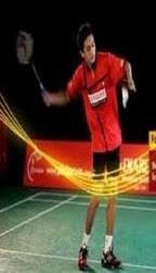 forehand service badminton