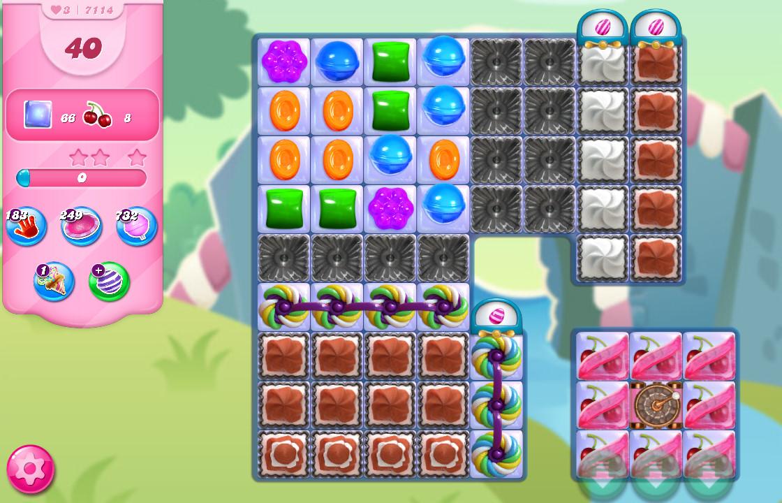 Candy Crush Saga level 7114
