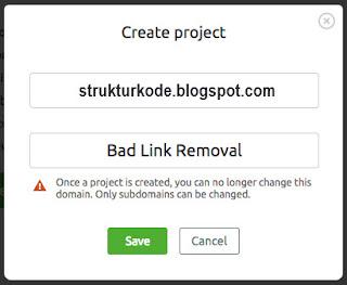 create semrush project