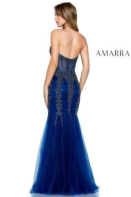 Corest Bodice Prom dress Navy Blue color Back side