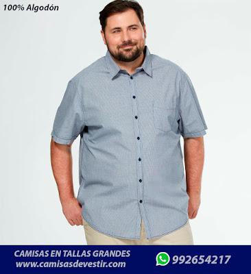 Camisas tallas grandes San Martin