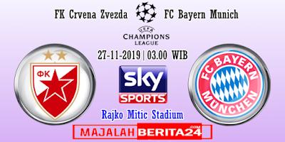 Prediksi Crvena Zvezda vs Bayern Munich — 27 November 2019
