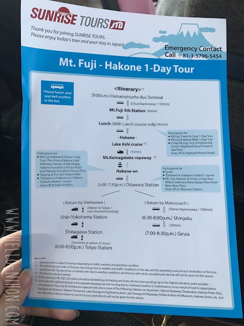Viator JTB Sunrise tours Fuji Hakone