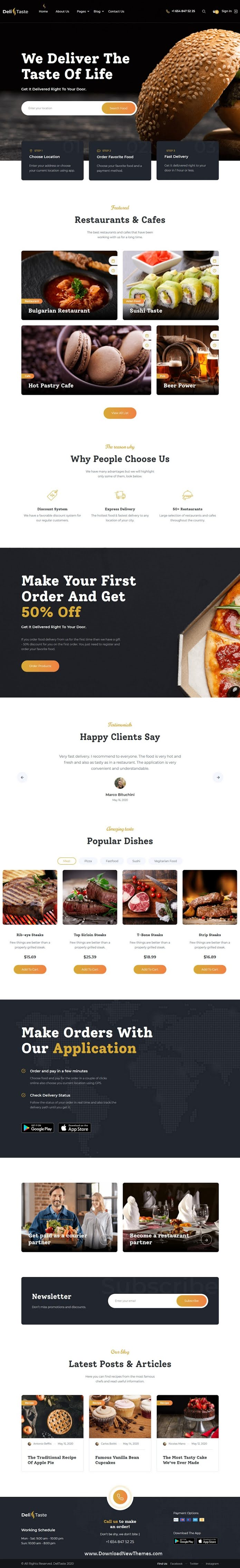 Food Delivery Restaurant Directory Template