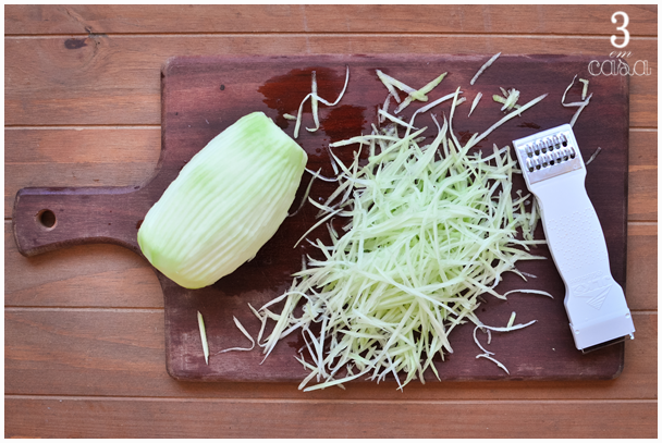 como fazer salada mamão verde