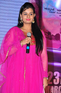 Mrudula Stills in Pink Salwar Kameez at Run Movie Gummadikaya Function