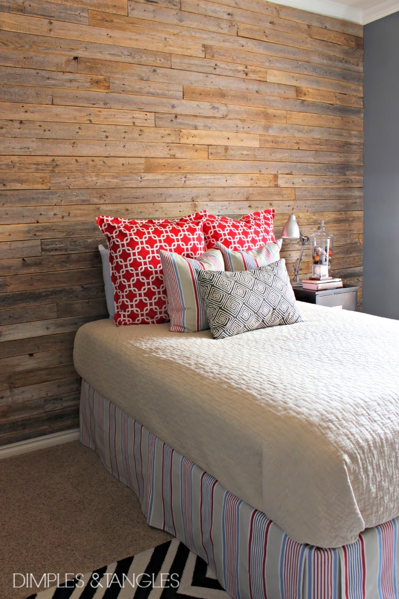 DIY WOOD FENCE PLANK WALL {TUTORIAL} - Dimples and Tangles