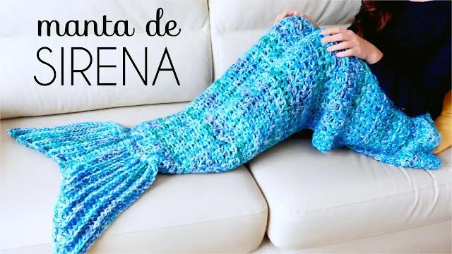 Tutorial Manta Cola de Sirena a Crochet Paso a Paso