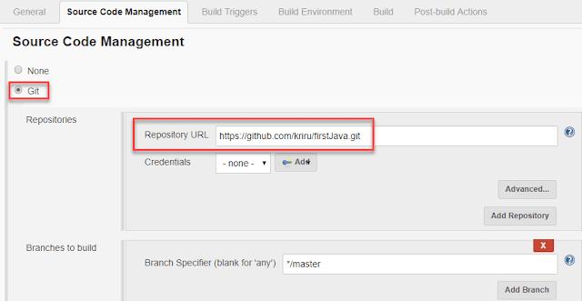 Jenkins Setup Git Project