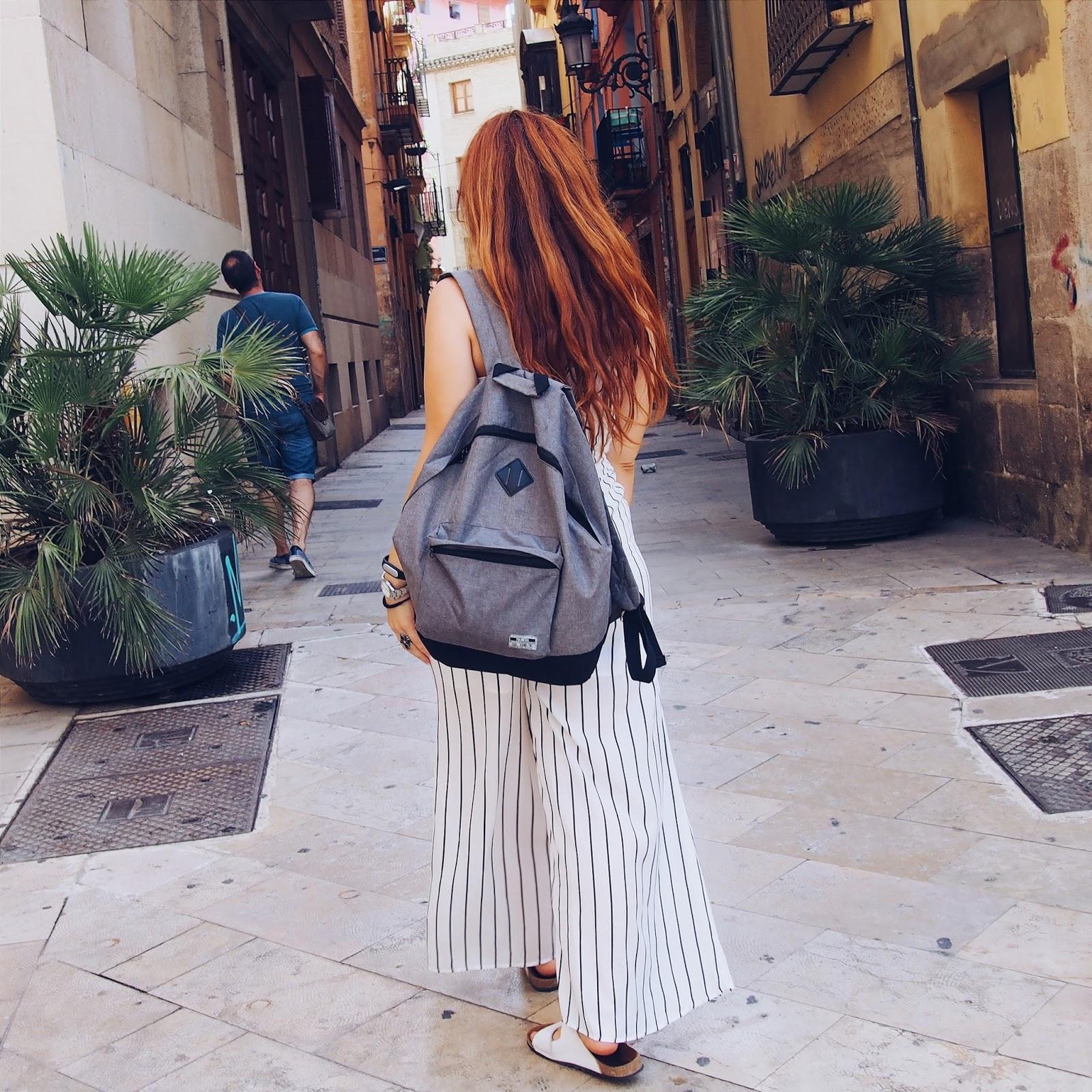 Outfit, casual, style, blogger, moda, mono, jumpsuit, fashion, romwe, stradivarius, backpack, choker, rings