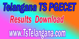 Telangana TS PGECET 2017 Results Download - Telangana Postgraduate Engineering Common Entrance Test Results Download