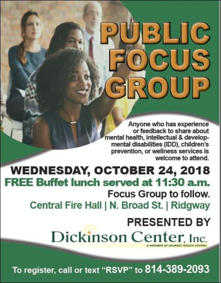 10-24 Public Focus Group, Ridgway, PA