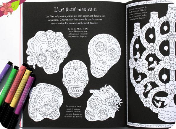 Motifs traditionnels du monde entier à colorier - Usborne