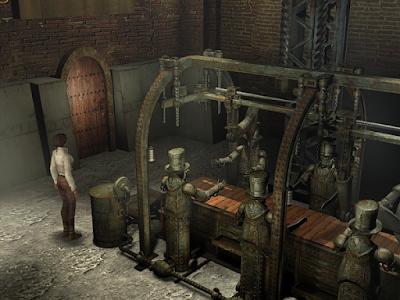 в углу цеха расположена деревянная дверь в игре сибирь