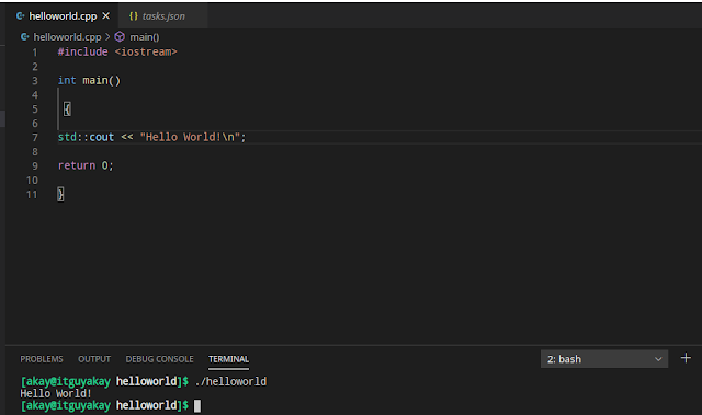 how to configure VS code editor for C/C++
