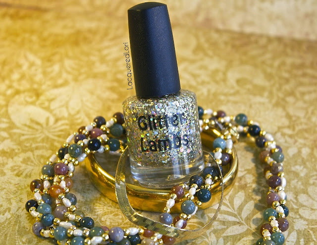 Million Dollar Gradient Gold Glitter Nail Polish By Glitter Lambs