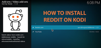 Install Reddit Kodi Addon on Kodi