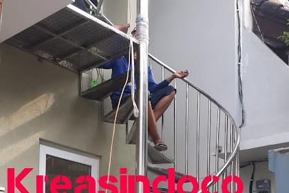 Balkon Stainless Dan Tangga Putar Stainless Pemasangan Di Tebet Barat Dalam Jakarta