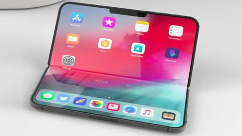 Foldable iPhone with self-repairing screen