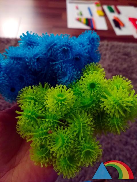 Bolas de colores del juego Bunchems