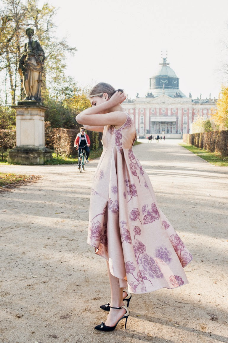 Floral Dress : Odeeh  spring 2014 photography by Sandra Semburg