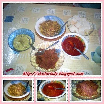 ketupat rendang sambal kacang nasi impit raya