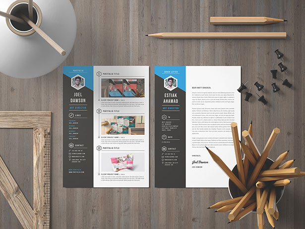 Template Resume CV 2018 - Free Premium Resume CV Template Set in PSD, Ai & Word format