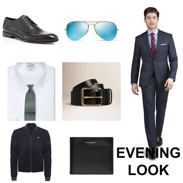 Men's evening drinks look with TM Lewin