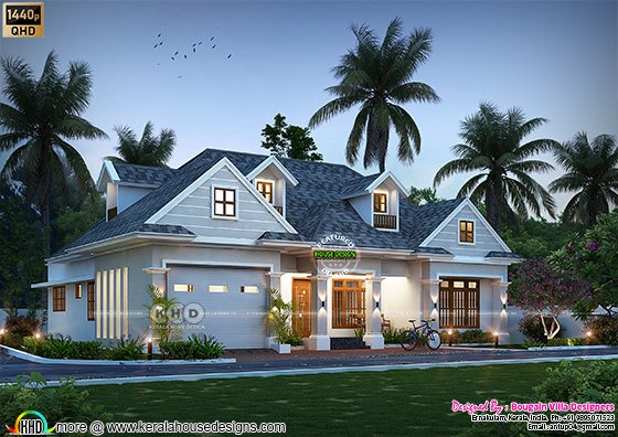 Classic style single floor home with dormer windows