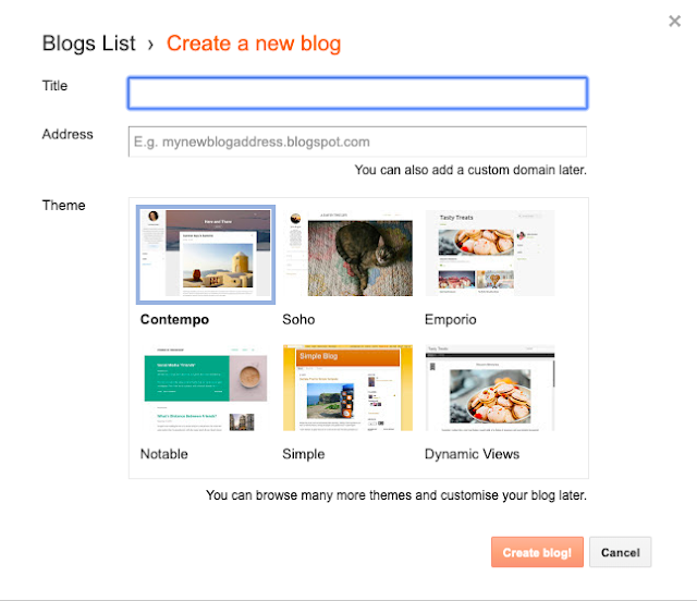 how to create new blog in blogger