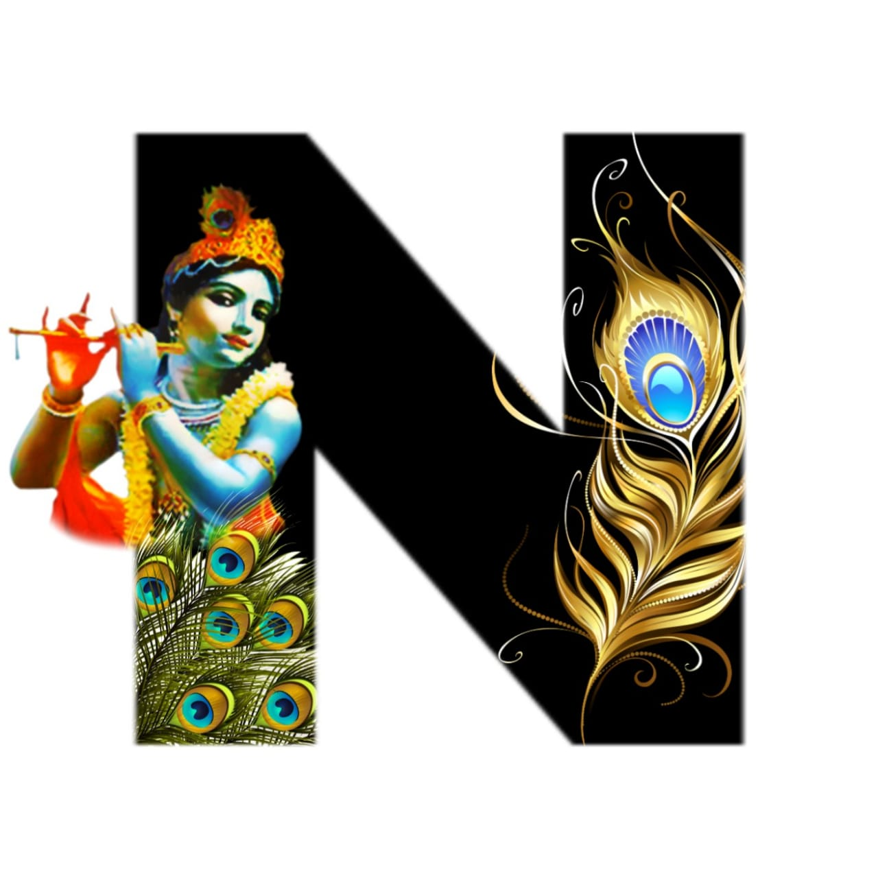 shree krishna alphabet n images