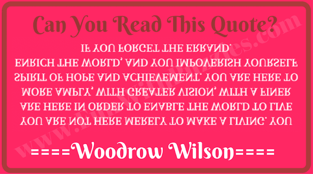 Upside down and backward reading riddle