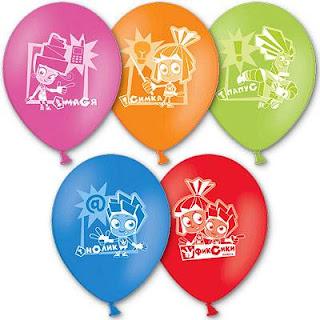 Воздушные шарики фиксики