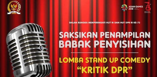 Stand Up Comedy Kritik DPR Segera Digelar