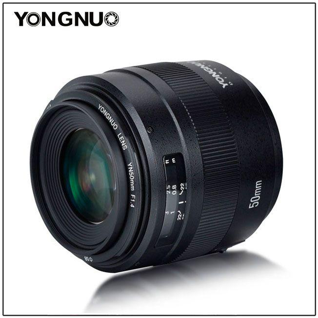 Yongnuo YN 50mm f/1.4, вид сбоку