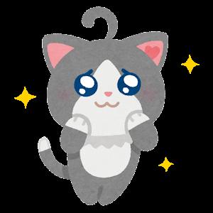 猫のキャラクター(ぴえん)