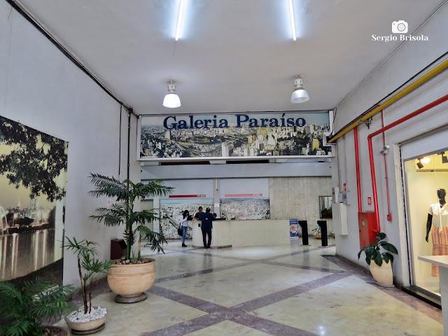 Vista da entrada da Galeria Paraíso - Vila Mariana - São Paulo