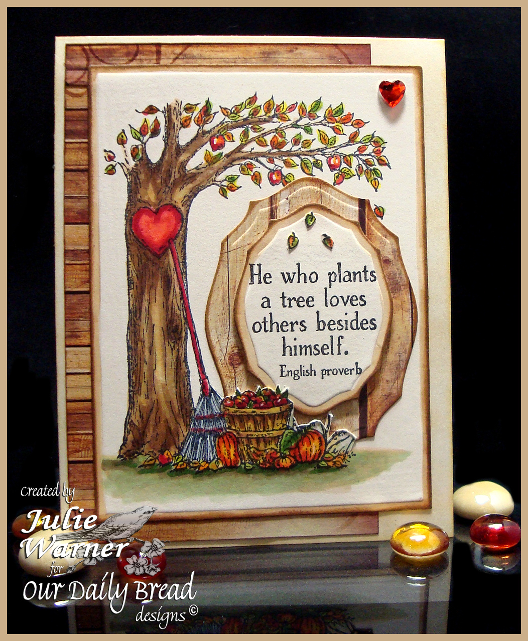 Stamps - Our Daily Bread Designs Autumn Tree, ODBD Custom Elegant Ovals Dies, ODBD Rustic Beauty Paper Collection