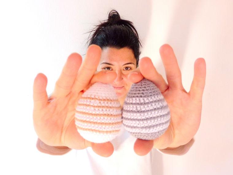 Patrón de huevos de pascua de ganchillo