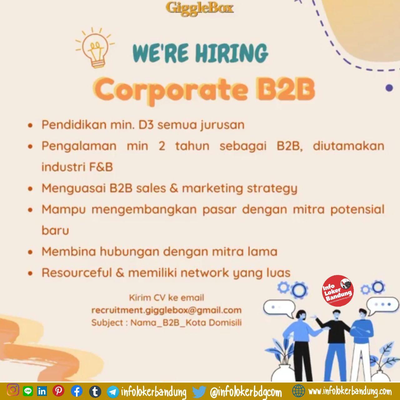 Lowongan Kerja Gigglebox Bandung April 2020