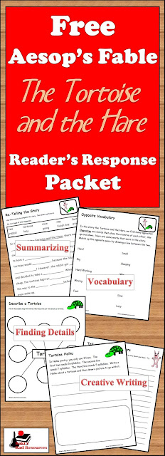 Free readers response packet for The Tortoise and the Hare from Raki's Rad Resources