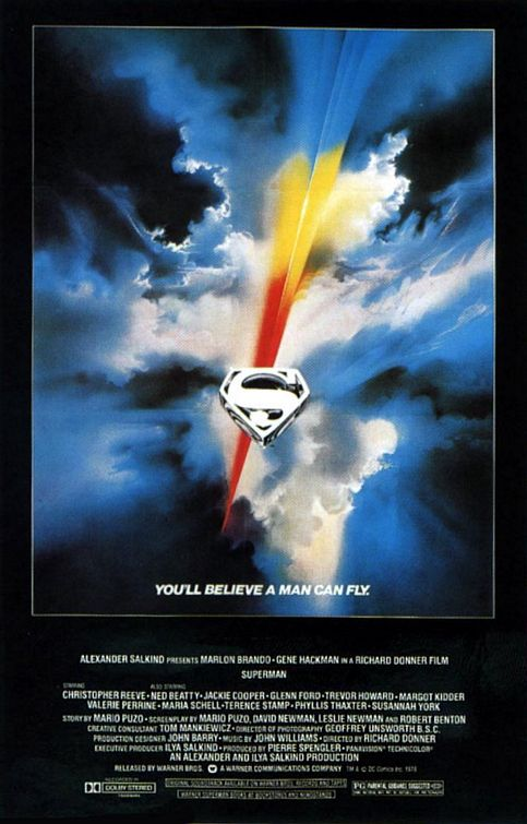 Superman 1978 movie poster