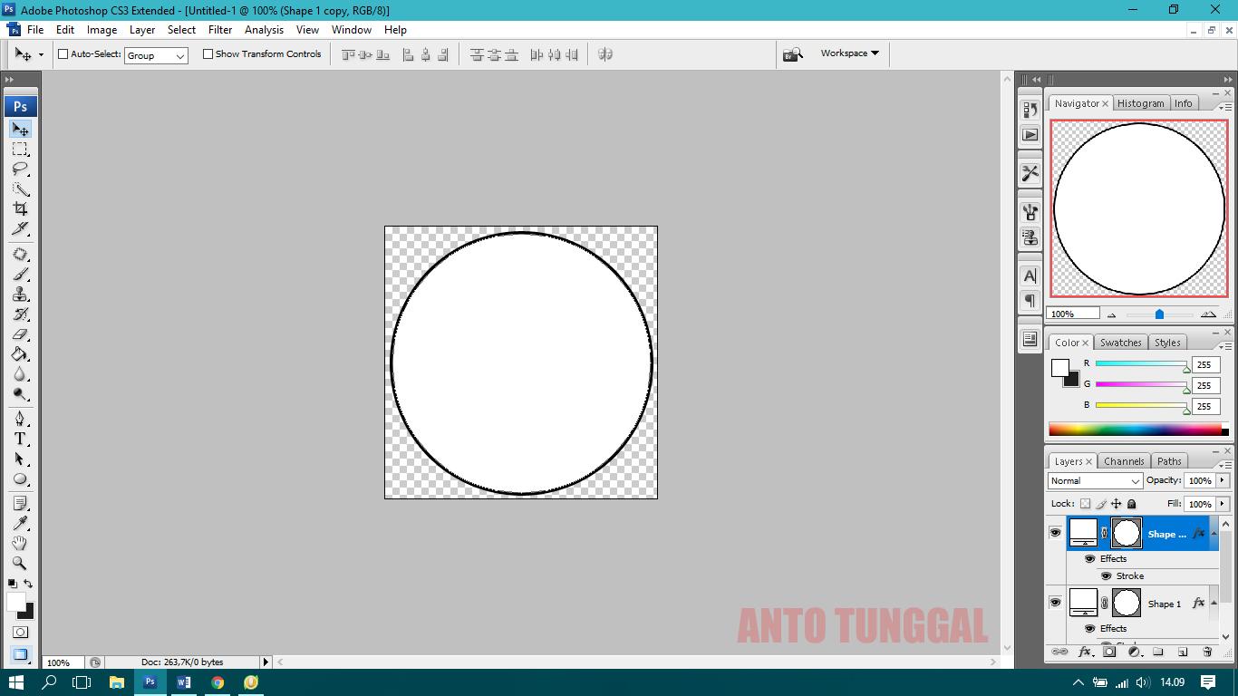 Cara Membuat Stempel Lingkaran dengan Photoshop - Anto Tunggal